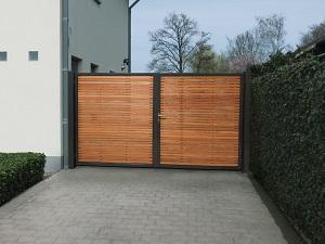 Portails à Namur Et En Brabant Wallon Quels Matériaux - Bois pour portail exterieur